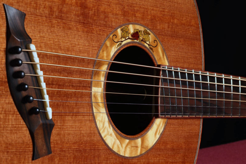 Fan Fret Baritone with Grapevine Marquetry