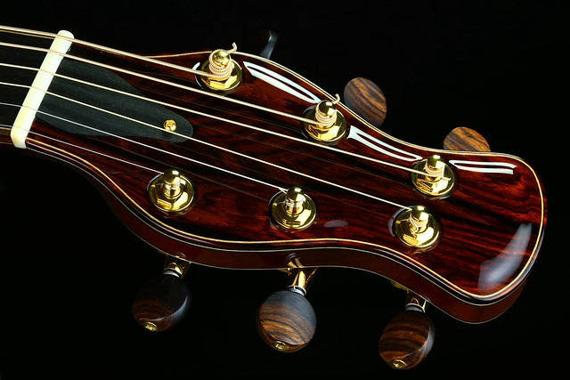 BRW Penelope Headstock with custom BRW tuner buttons